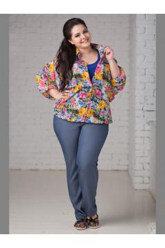 Блуза 1072 (Цветы)