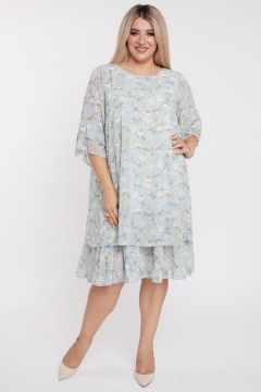 """Платье """"Luxury Plus"""" 879 (Голубой)"""