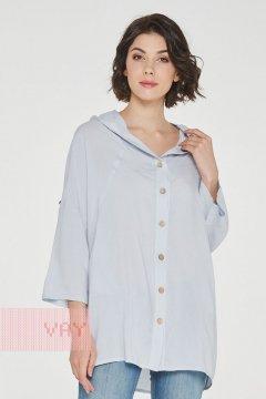 "Блуза ""Фемина"" 191-3489 (Ш33 тихий серый)"