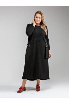 """Платье """"Её-стиль"""" 2040 (Черный)"""