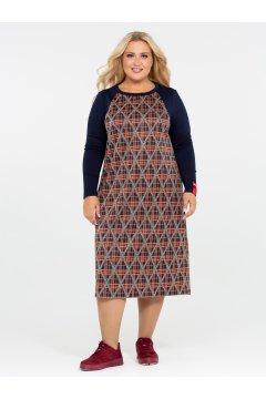 Платье 120201504 (Синий)