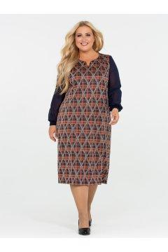 Платье 120201604 (Синий)