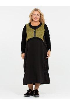 Платье 120201821 (Оливковый)