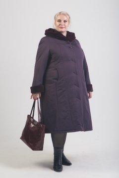 """Пальто """"Тревери"""" 71604 (Фиолетовый)"""