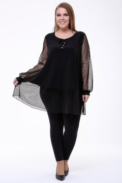 Блуза 1806-073 (Чёрный)