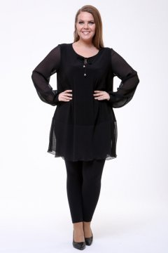 Блуза 1837-073 (Чёрный)
