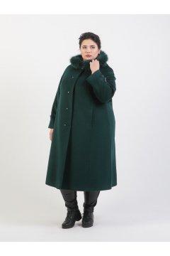 """Пальто """"Тревери"""" 74305 (Зеленый)"""