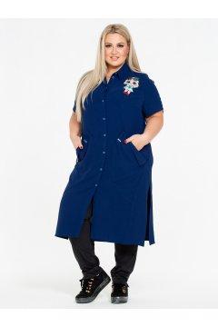 Блузка 130105204 (Синий)