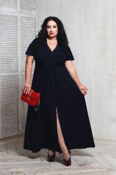 Платье 066204 (Темно-синий)