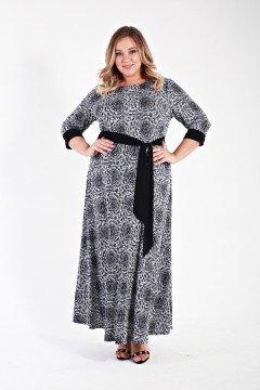 Платье 135608 (Черно-белый)