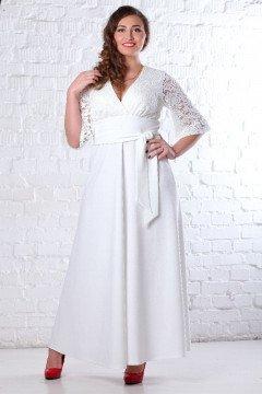 Платье 078101 (Белый)