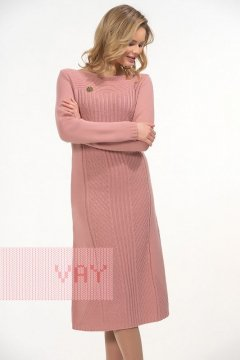 Платье женское 2263 (Темно-розовая дымка)