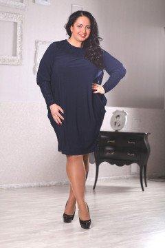 Платье 040804 (Темно-синий)