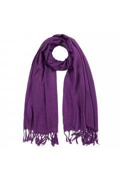 Палантин однотонный фиолетовый # 108 95