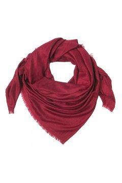 Жаккардовый бордовый платок SH 1659