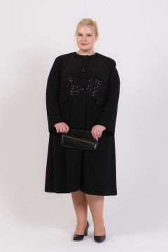Пальто 70705 (Черный)