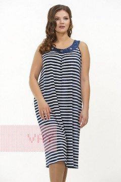 Платье женское 3302 (Полоска варенка темно-синий/варенка темно-синий)