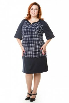 Платье 454 (Сине-белый)