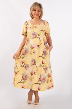 "Платье ""Лайма"" (Цветы на желтом)"