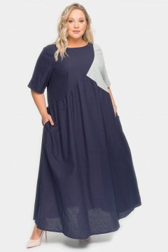 """Платье """"ЛаТэ"""" 1925801(1922201) (Темно-синий)"""
