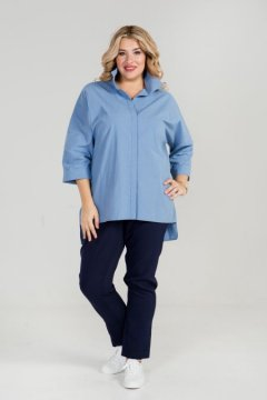 Рубашка 870 (Голубой)