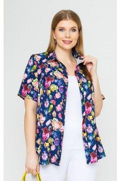 Блуза 4147 (Парфюм на синем)