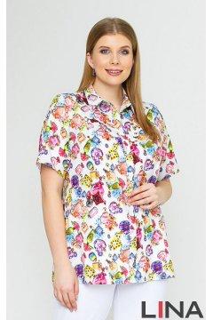 Блуза 4147 (Парфюм на белом)
