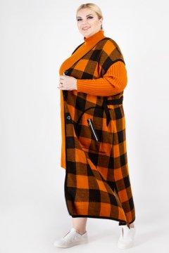 """Жилет """"Артесса"""" GL11528SQU54 (оранжевый)"""