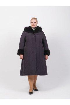 """Пальто """"Тревери"""" 71614Т-2 (Фиолетовый)"""