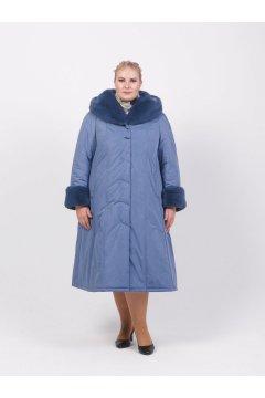"""Пальто """"Тревери"""" 71604-3 (Голубой)"""