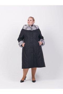"""Пальто """"Тревери"""" 71604-1 (Черный)"""