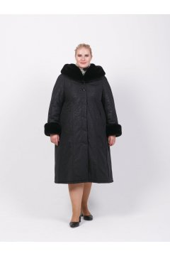 """Пальто """"Тревери"""" 71604-2 (Черный)"""