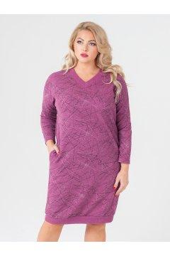 """Платье """"Ариша"""" (Розовый/принт/штрихи)"""