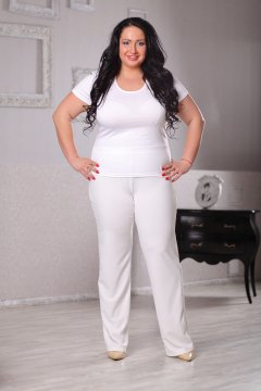 """Блуза """"ЛаТэ"""" 044302 (Белый)"""