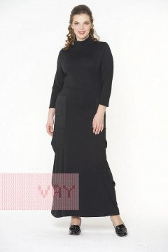 Платье женское 181-3423 (Черный/черный)
