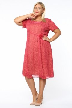 """Платье """"Каприз"""" 1165-632 (Красный)"""