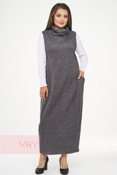Сарафан женский 182-3458 (Темно-серый меланж)