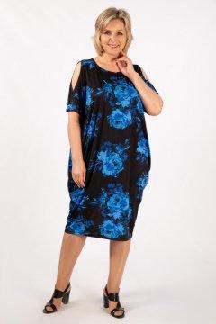 """Платье """"Марго"""" (Цветы синие)"""