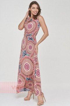 Платье женское 191-3510 (Узор розовый)