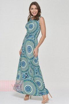 Платье женское 191-3510 (Узор голубой)