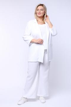 """Жакет """"Монако"""" 0048-001 (Белый)"""