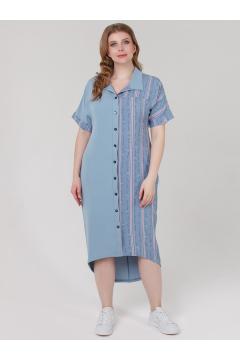 "Платье ""Элли"" (Голубой/буквы)"