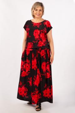 """Платье """"Анджелина-2"""" (Цветы красные)"""