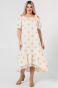 """Платье """"Luxury Plus"""" 1049 (Бежевый)"""