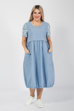 """Платье """"Luxury Plus"""" 1053 (Голубой)"""