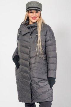 """Пальто """"Luxury Plus"""" 1027 (Темно-серый)"""