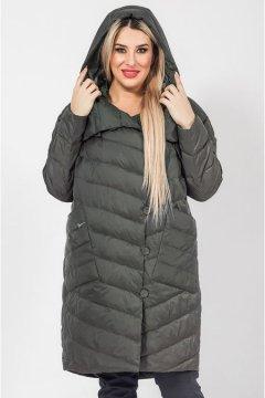 """Пальто """"Luxury Plus"""" 1027 (Темно-зеленый)"""