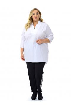 """Туника-рубашка """"ЛаТэ"""" 2129401 (Белый)"""