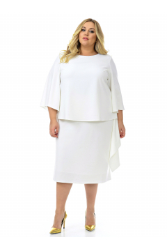 """Платье-костюм """"ЛаТэ"""" 2131207 (Белый)"""