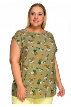 """Блуза """"ЛаТэ"""" 2214405 (цветочный, оливковый)"""